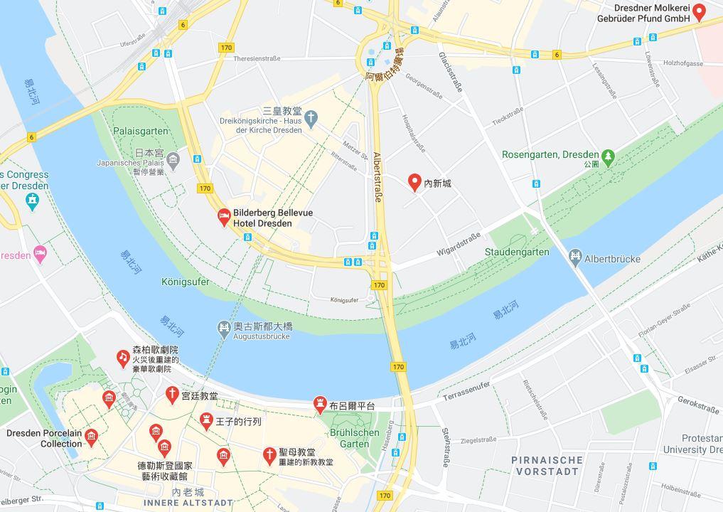 德勒斯登地圖