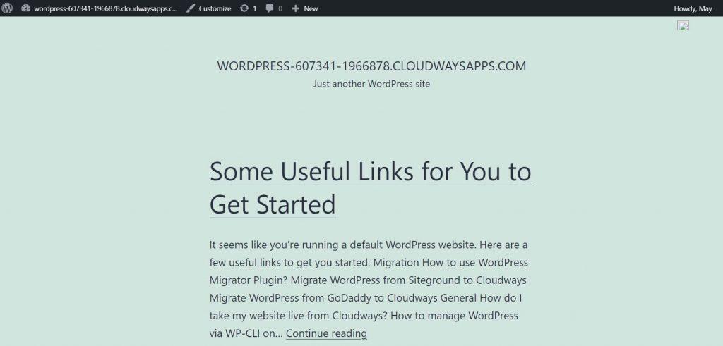 Cloudways WordPress 前台